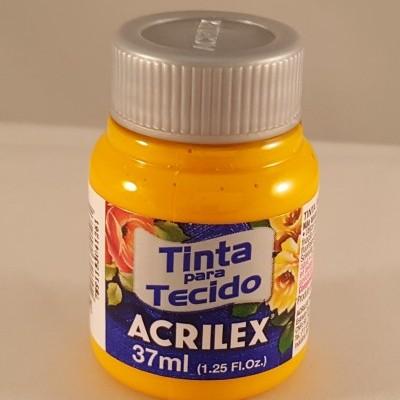 Tinta tecido Acrilex  amarelo ouro 505
