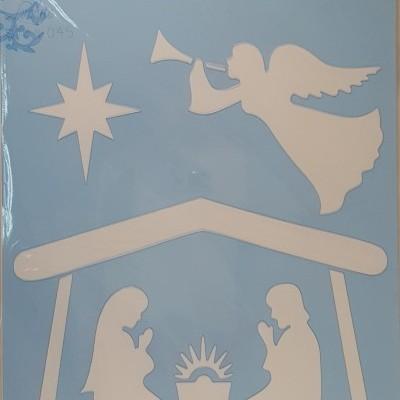 Stencil Presépio com anjo