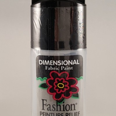 Tinta Dimensional para Tecido Fashion Silver sterling metallic