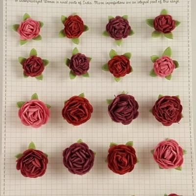Flores de Papel para scrapbooking Little Birdie rosas