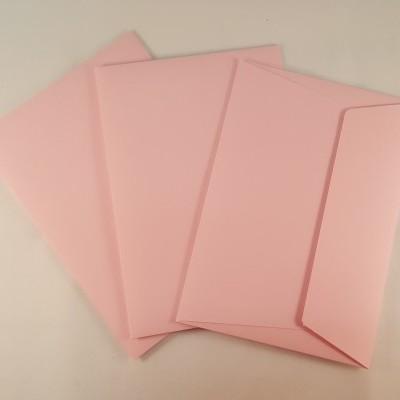 Envelopes C6 coloridos cor rosa claro