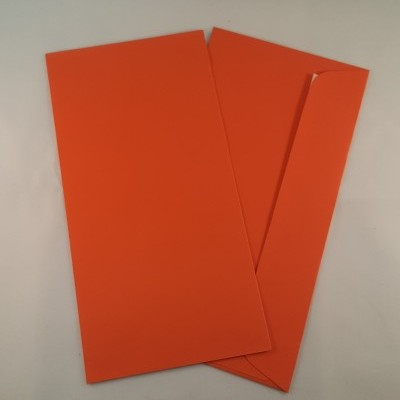 Envelopes DL coloridos cor laranja
