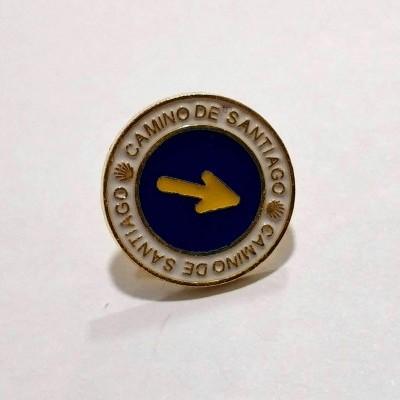 Pin (Seta Amarela redondo)