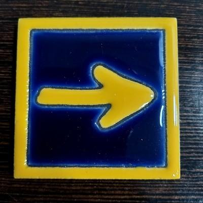 Íman Azulejo (Seta Amarela)