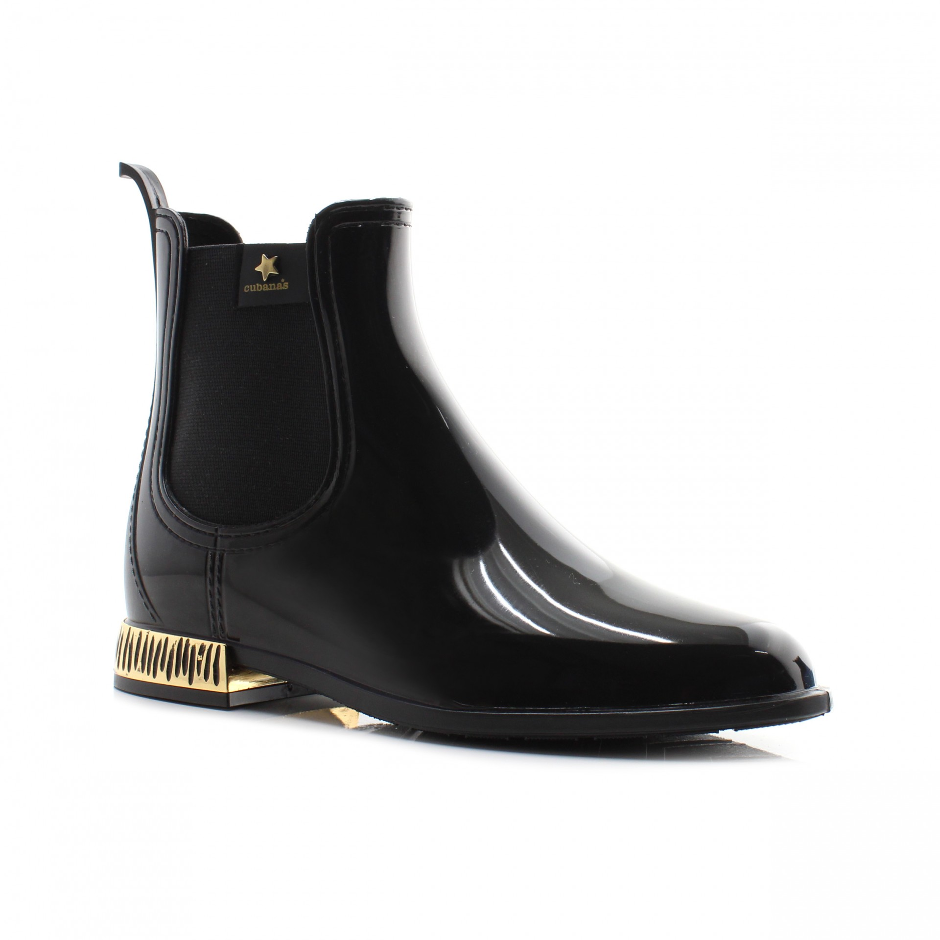 RAINYBOOT CUBANAS RAINY1160 BLACK+GOLD