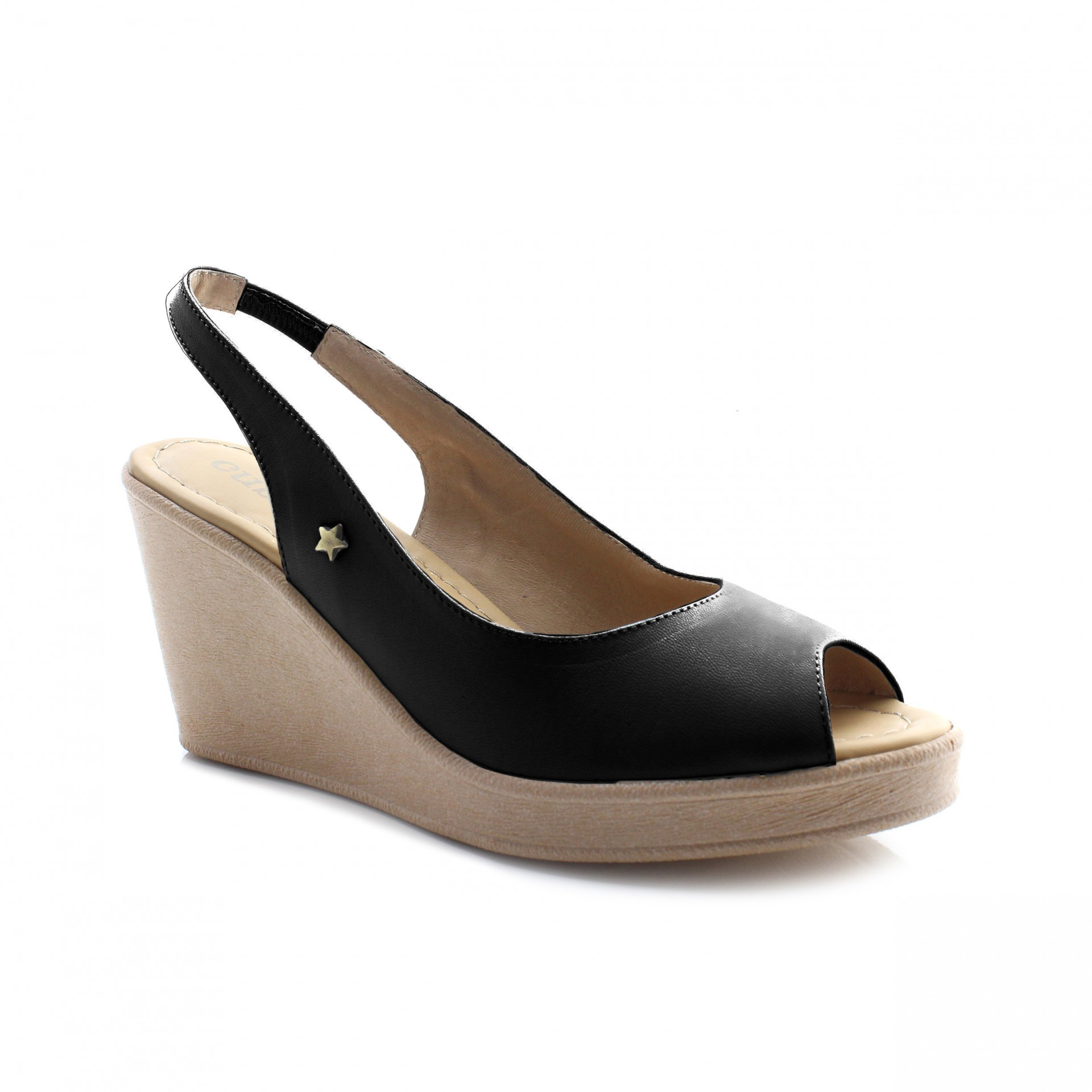 PEEP TOE CUBANAS CULT 01 BLACK