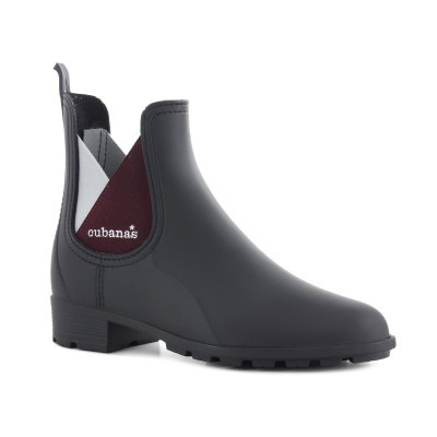 RAINYBOOT CUBANAS RAINY820 BLACK+DARK PURPLE/GREY