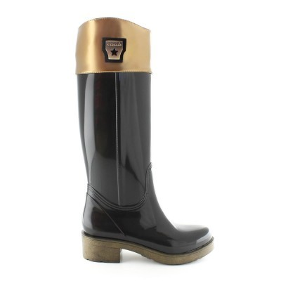 RAINYBOOT CUBANAS RIDER100 BLACK+GOLD