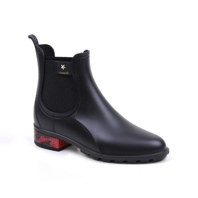 BOTA CUBANAS RAINY1490 BLACK+RED