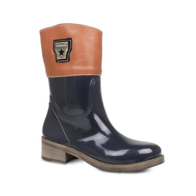 RAINYBOOT CUBANAS HORSIE102 MIDNIGHT BLUE+CHOCOLAT