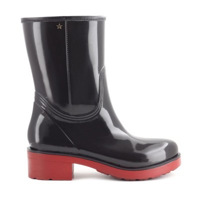 RAINYBOOT CUBANAS STORM110 BLACK+DEEP RED
