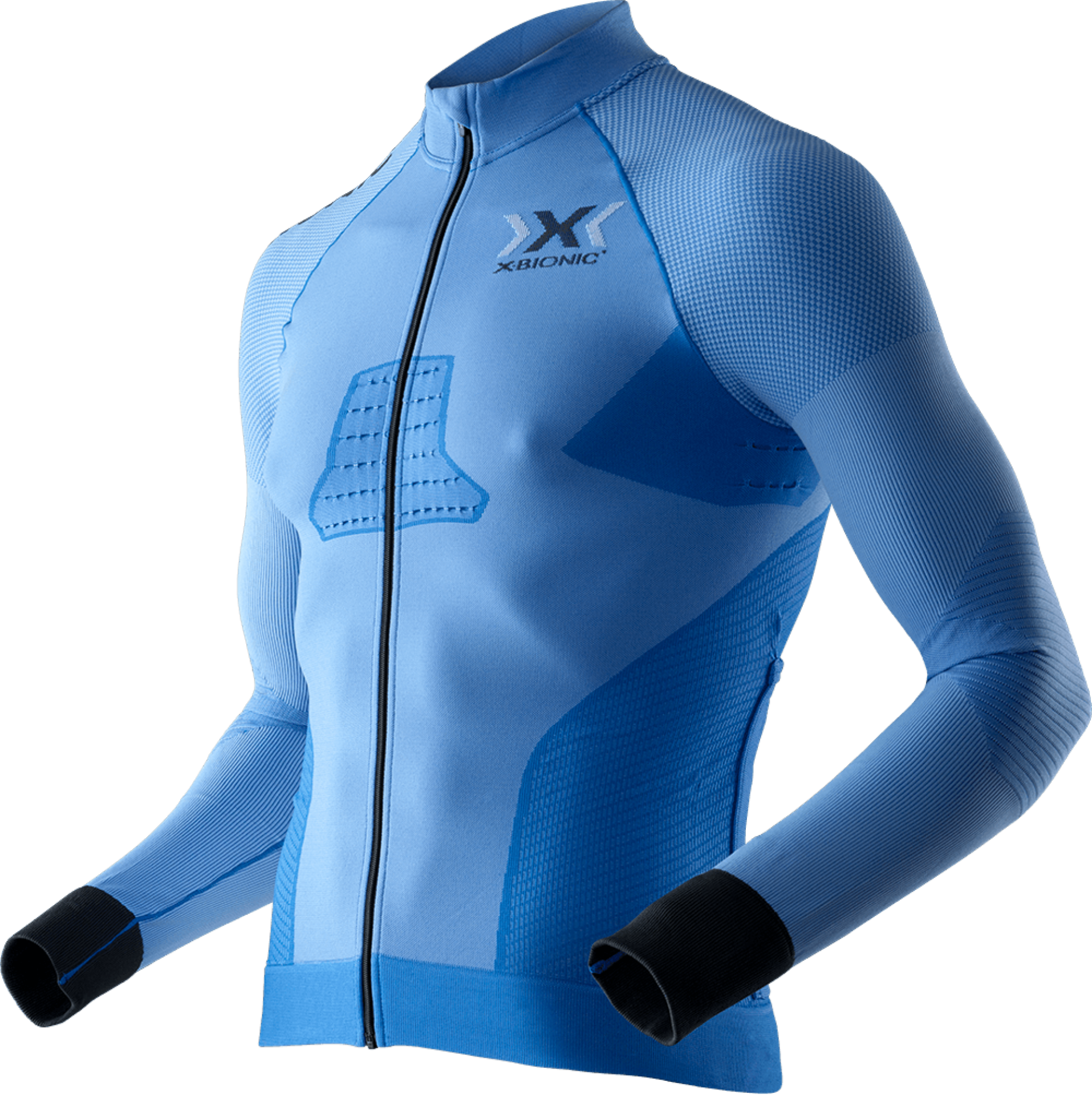 CAMISOLA X-BIONIC BIKING MAN RACE EVO SHIRT LONG SLEEVE - AZUL