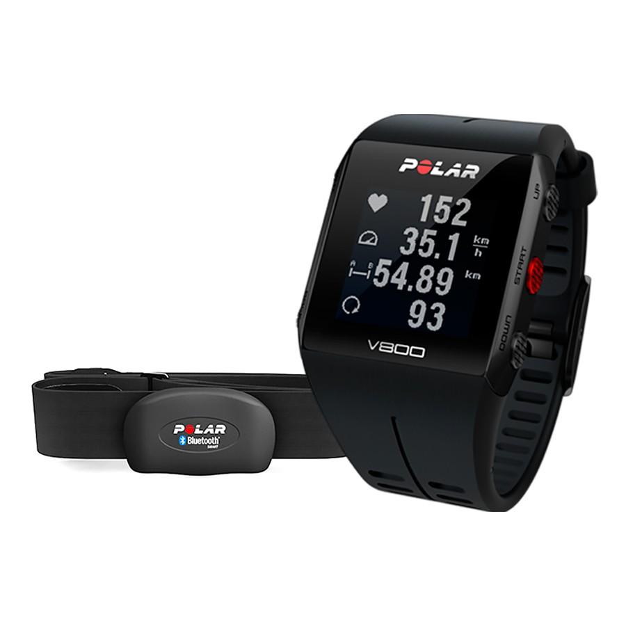 Pulsómetro GPS Polar V800 HR preto (inclui sensor H7)