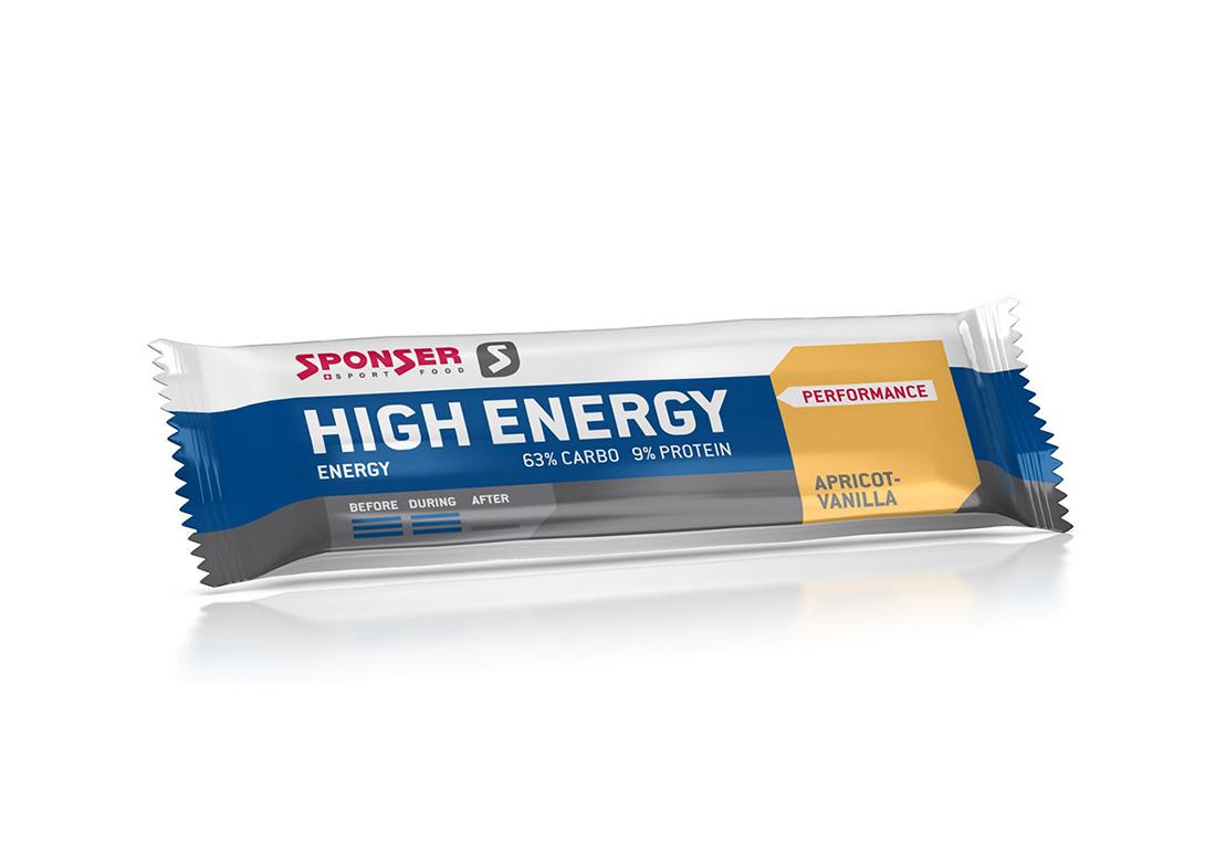 SPONSER HIGH ENERGY ALPERCE/BAUNILHA BARRA ENERGÉTICA 45G
