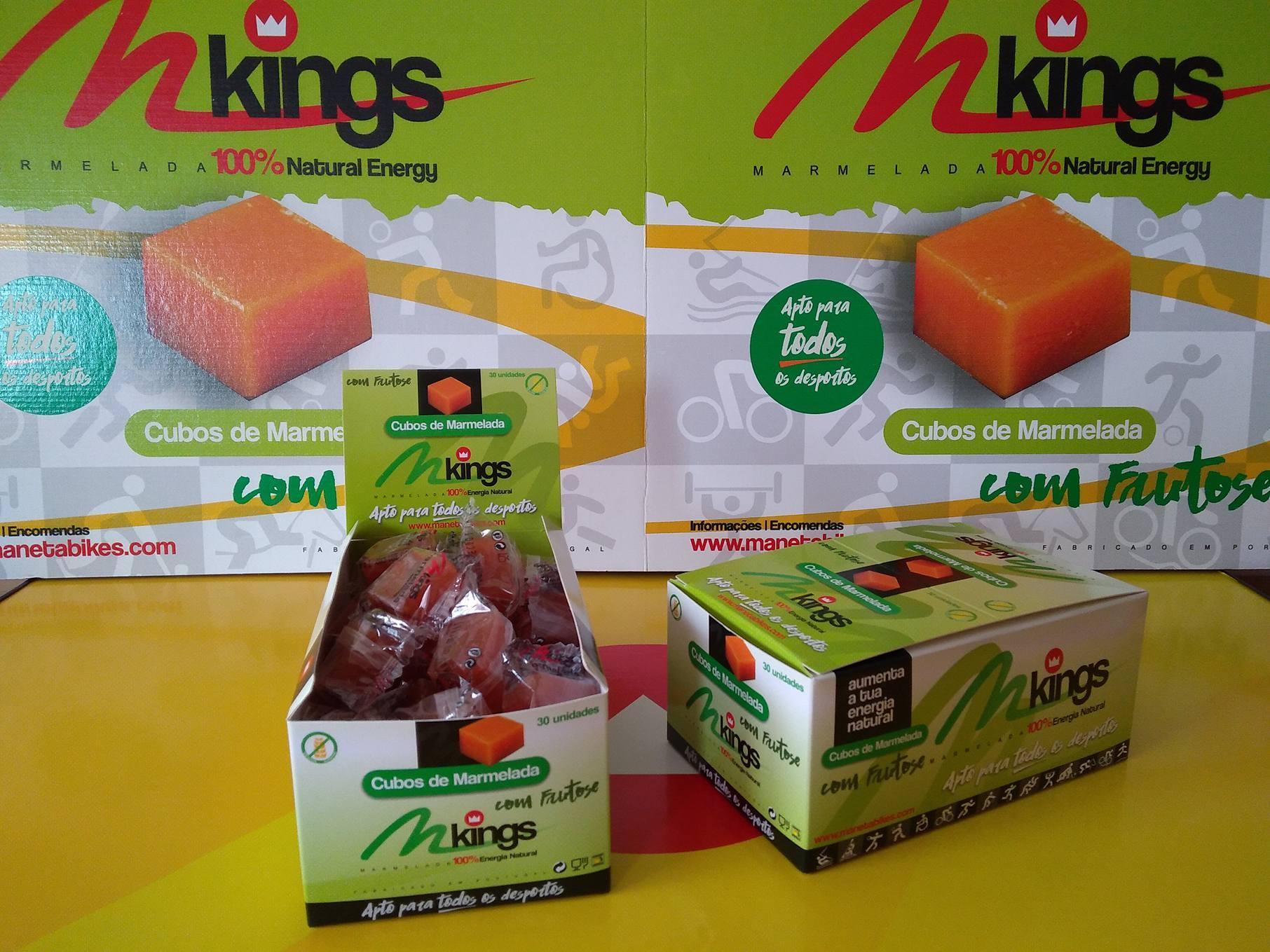 CUBOS DE MARMELADA M-Kings com Frutose
