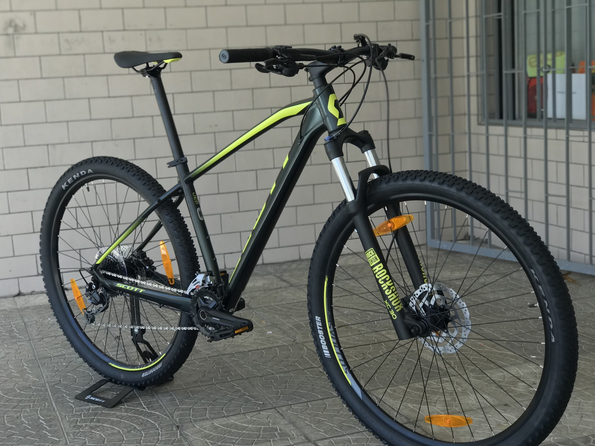 BICICLETA SCOTT ASPECT 930 DARK GREEN/YELLOW