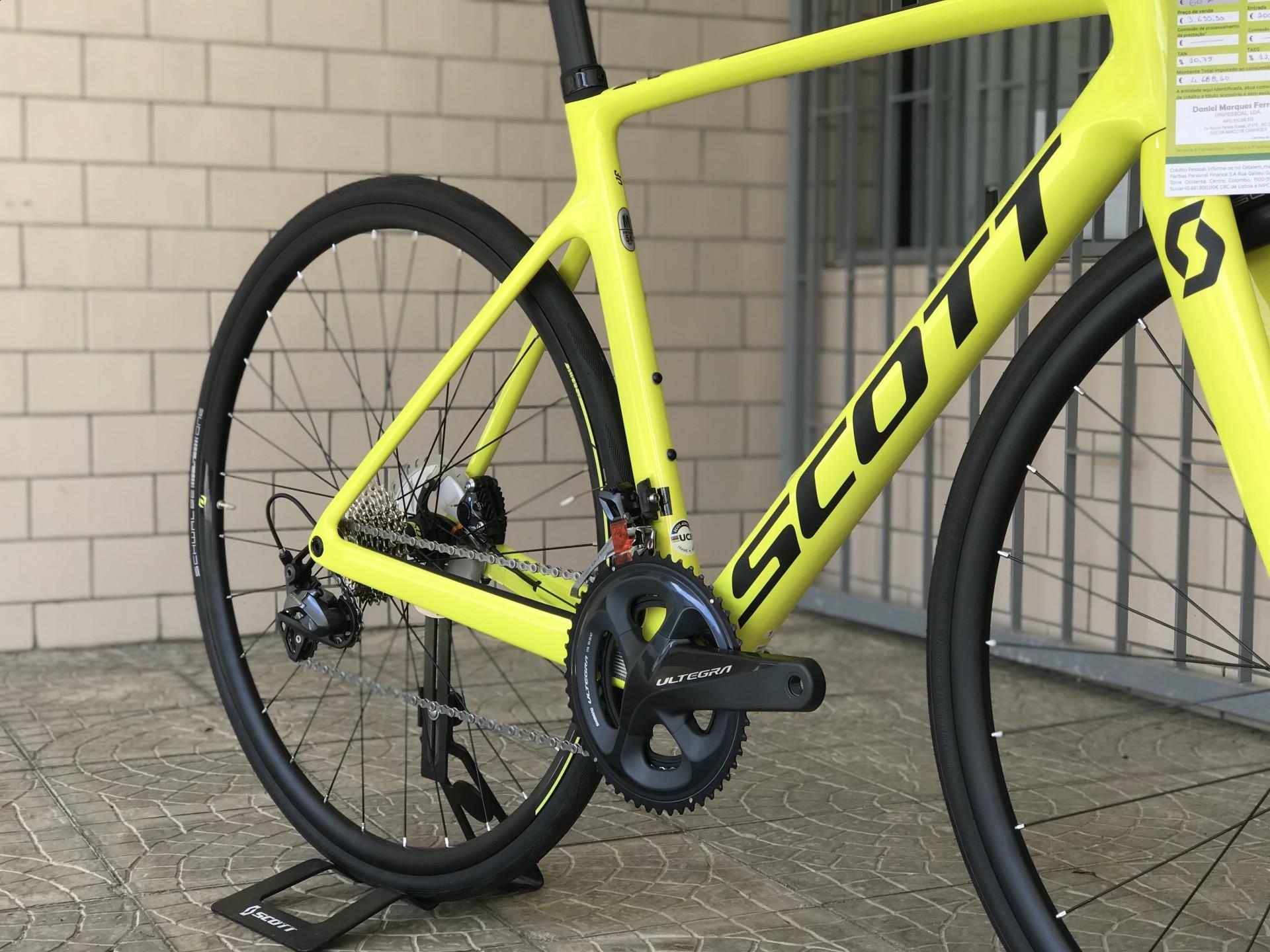 BICICLETA SCOTT ADDICT RC 30 YELLOW - 2020