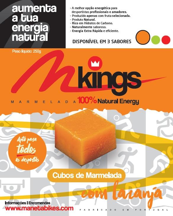 CUBOS DE MARMELADA M-Kings com Laranja