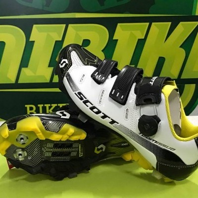 SAPATOS SCOTT MTB TEAM ISSUE - Carbono - Preto/Branco/Amarelo RC