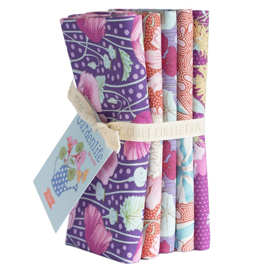 Gardenlife :: Bundle 5 FQ | Lilac / Coral | Tilda