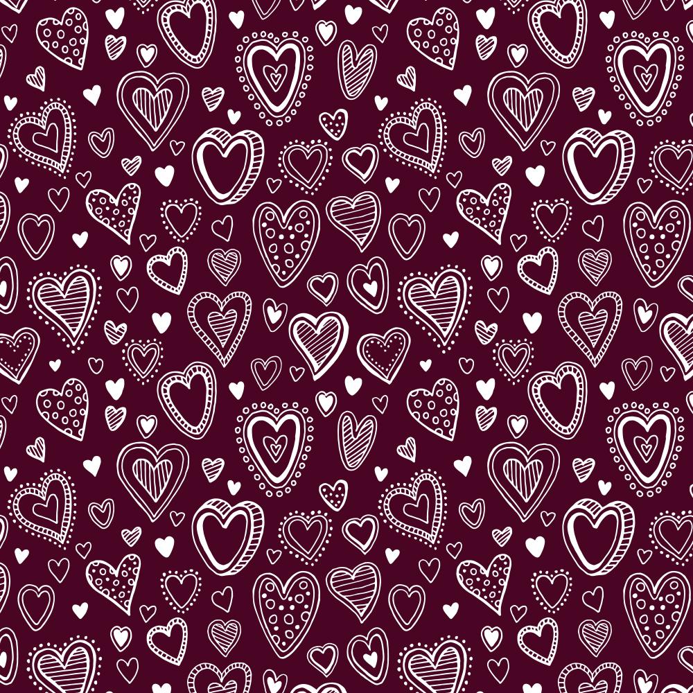 Multi Corações   Vinho   Basics & Colors   Fabricart