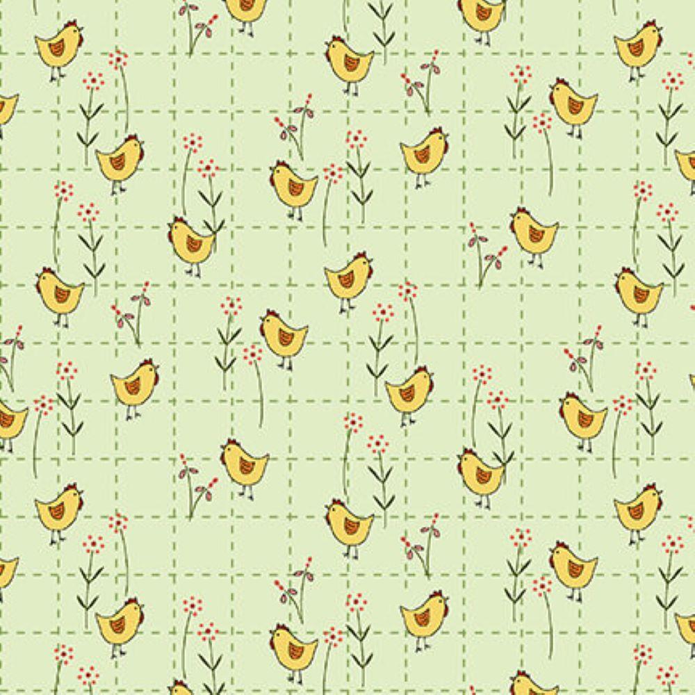 Backyard Happenings | Chicken - Green | Henry Glass
