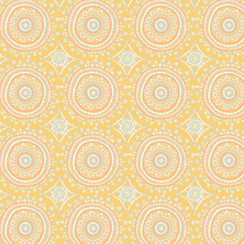 Ganesha Garden | Mandala - Yellow | Free Spirit
