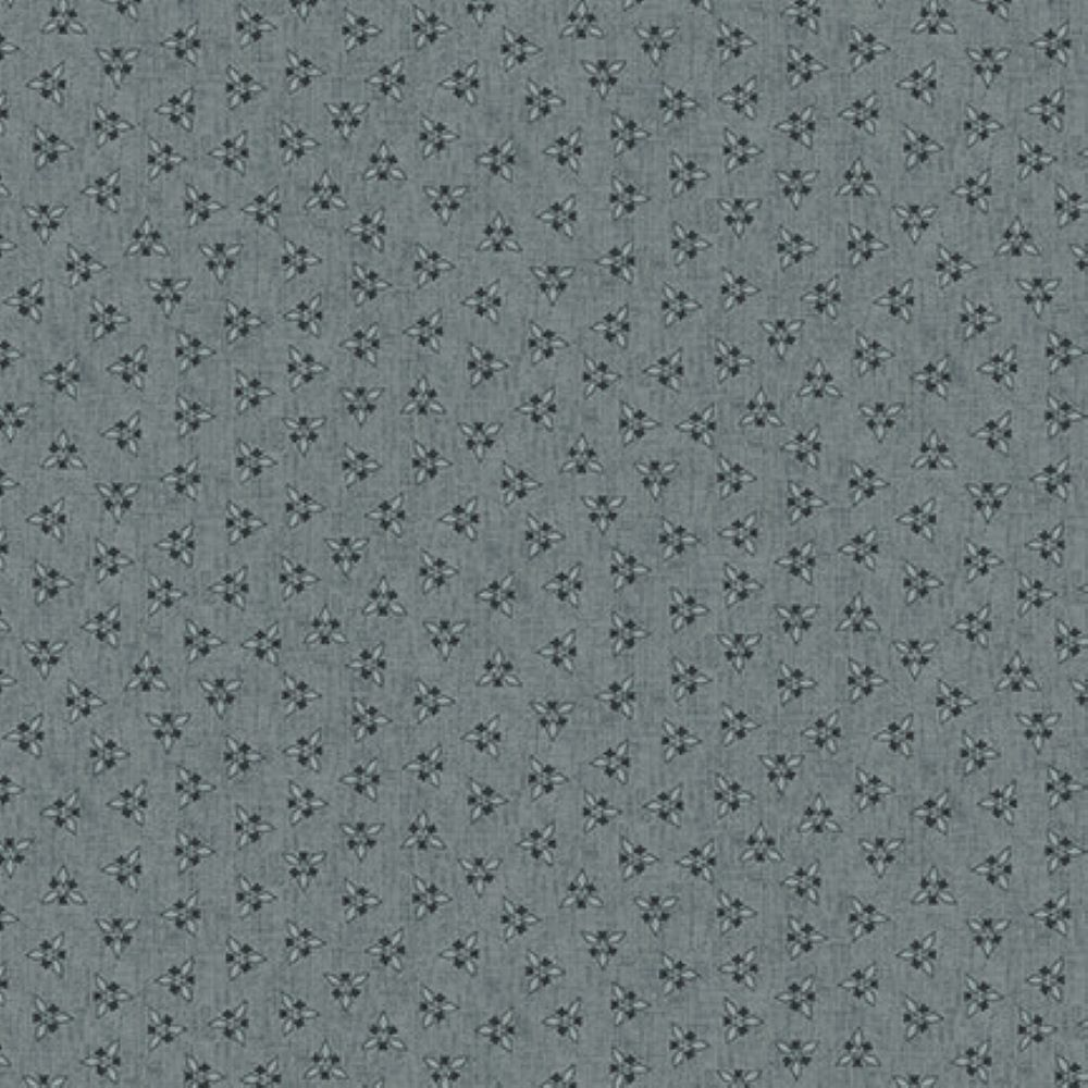 CLUSTERED TRIANGLES   DUSTY TEAL :: BARN DANCE   BLANK QUILTING