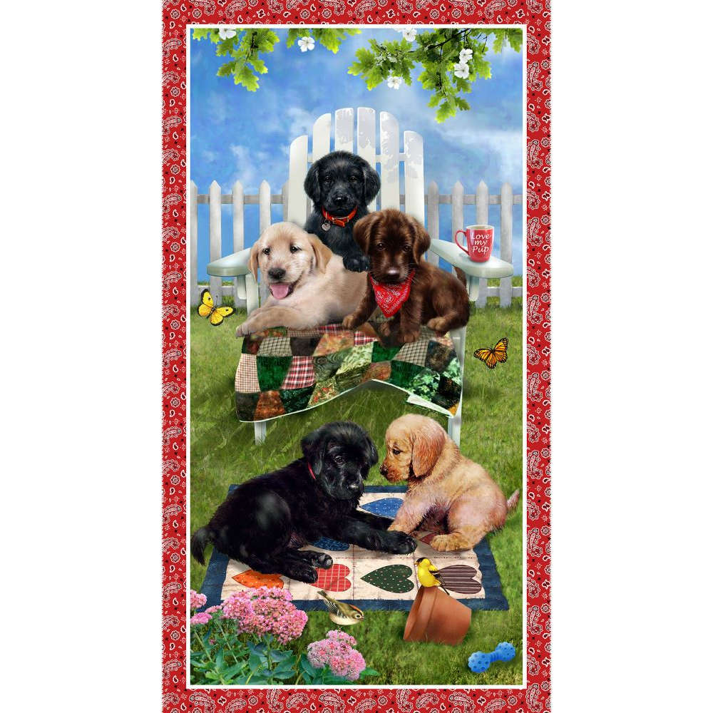 Banner Panel :: Pups in the Garden   Henry Glass
