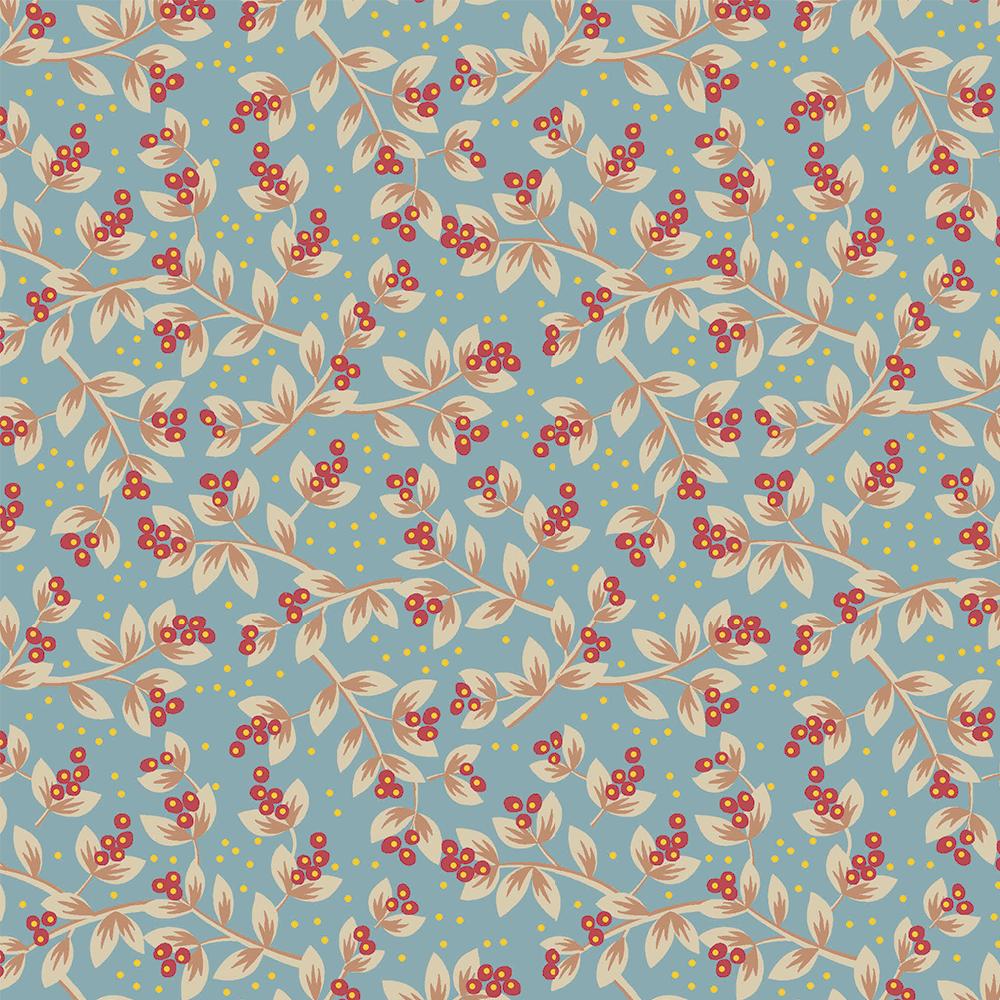 Floral Jacobean | Sementes Jacobean :: Acqua Vermelho | Fabricart