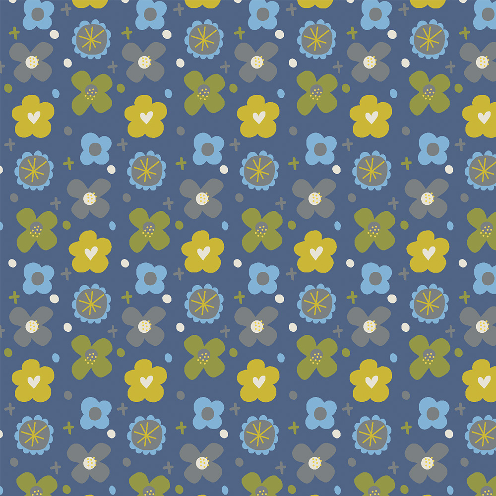 BUTTONS :: BLUE | OVER THE RAINBOW | FABRICART