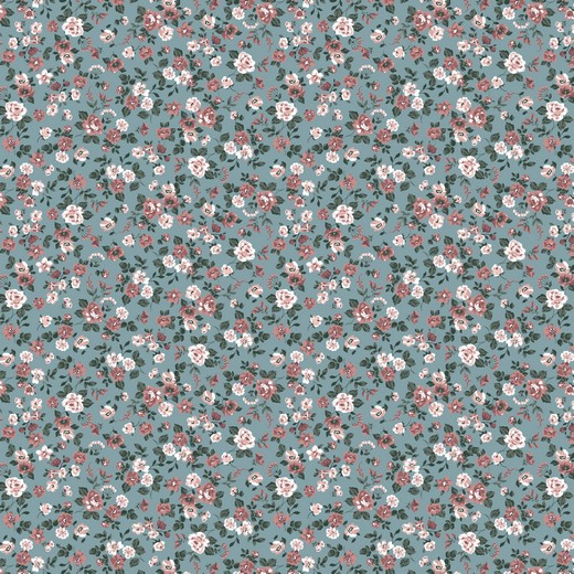 ROMANTIC FLOWERS | AQUA | POPPY