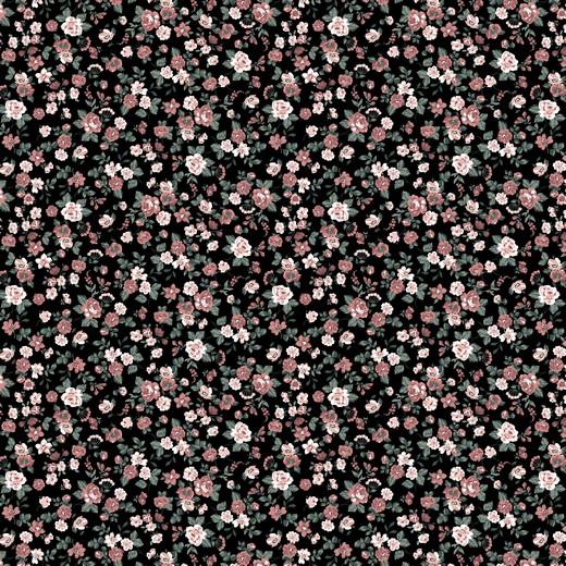 ROMANTIC FLOWERS   PRETO   POPPY