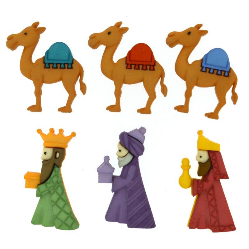 CONJUNTO DE BOTÕES   WE THREE KINGS