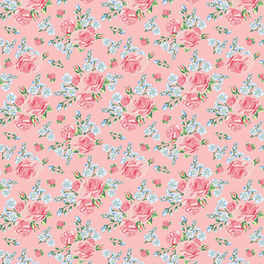 Roses | Shabby Flowers | Pink | Poppy Fabrics