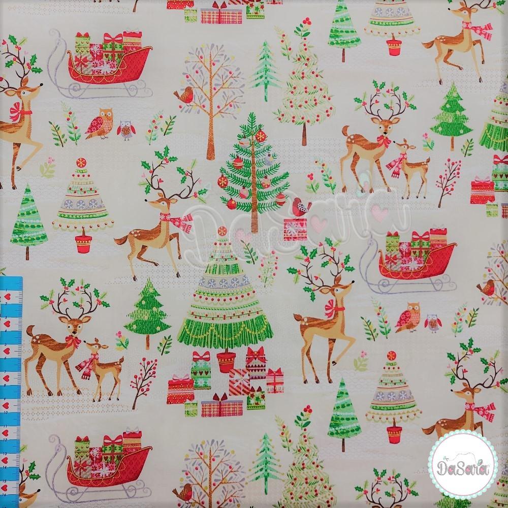 Christmas | Traditional Metallic Scenic | Makower UK