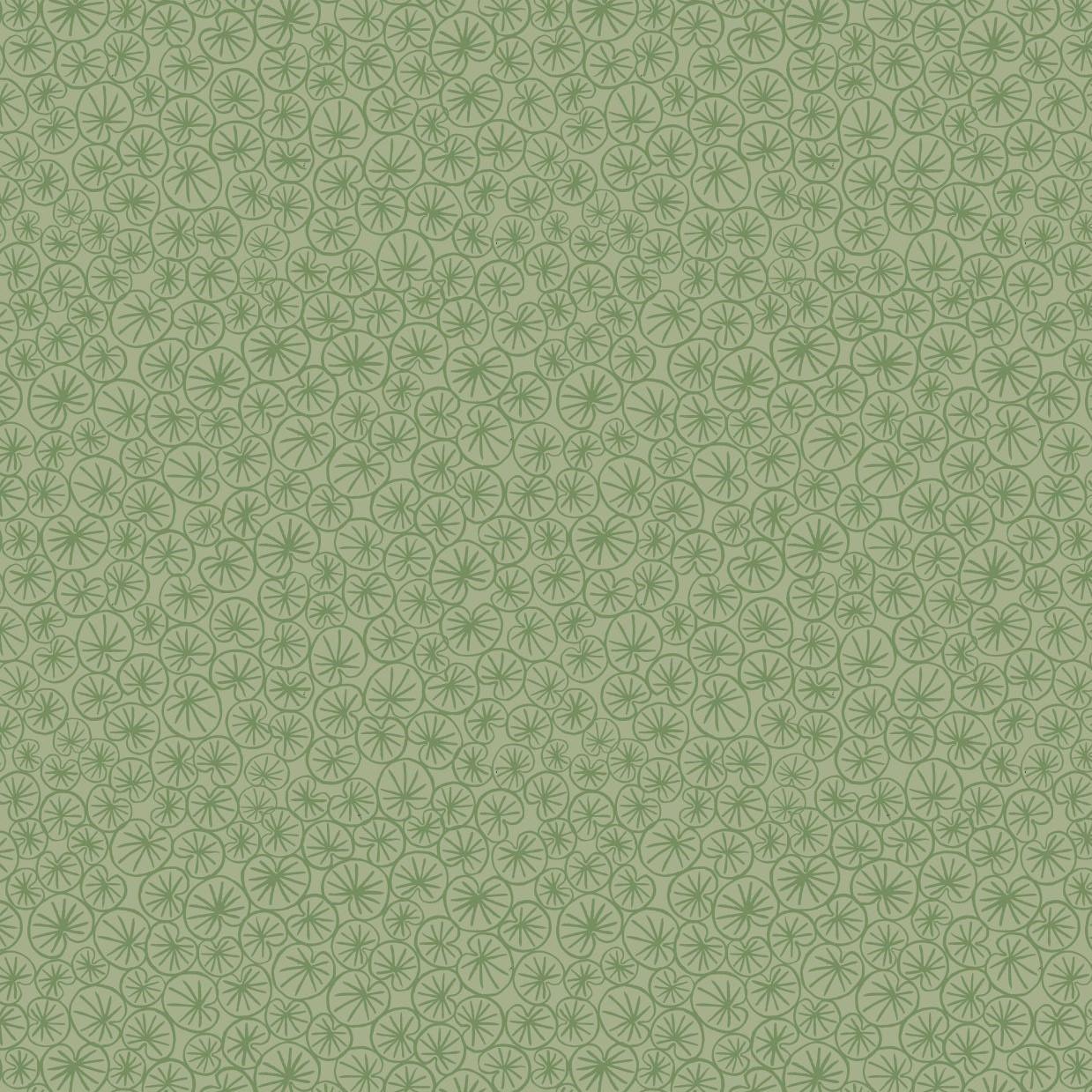 THE VILLAGE POND :: MARIGOLD LEAVES   GRASS