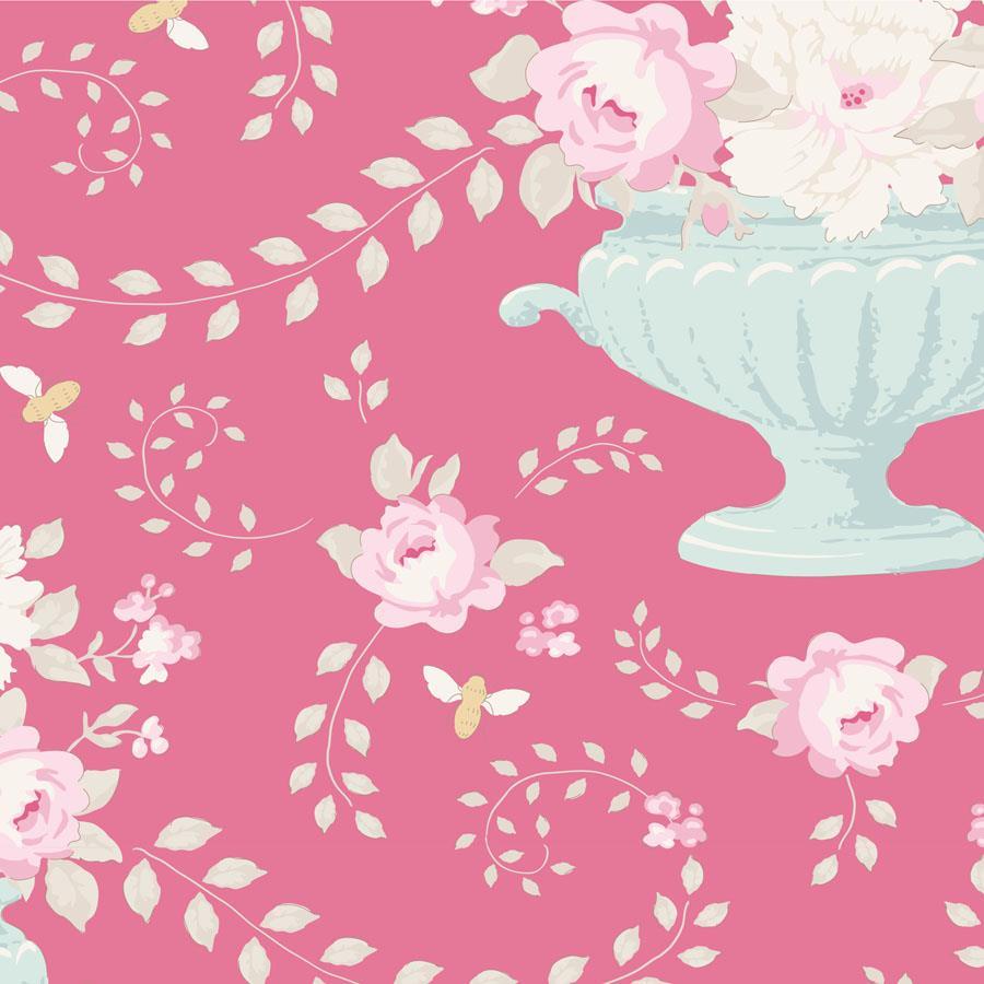 TILDA :: HAPPY CAMPERS   FLOWERBEES   ROSE