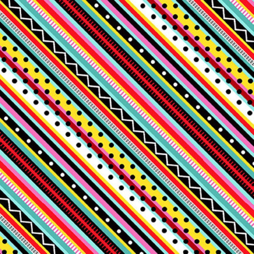 Roamin' Holiday | Diagonal Stripe - Multi | Studio e Fabrics