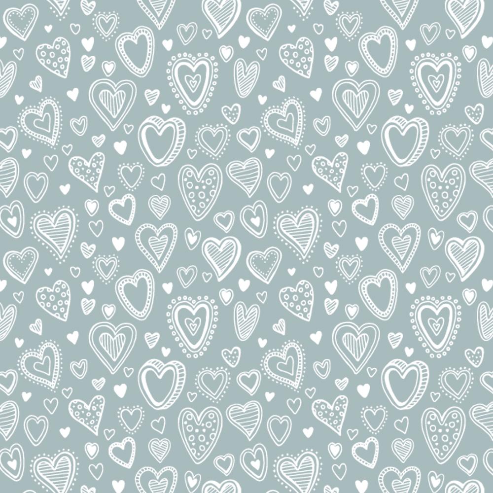 Multi Corações | Cinza | Basics & Colors | Fabricart