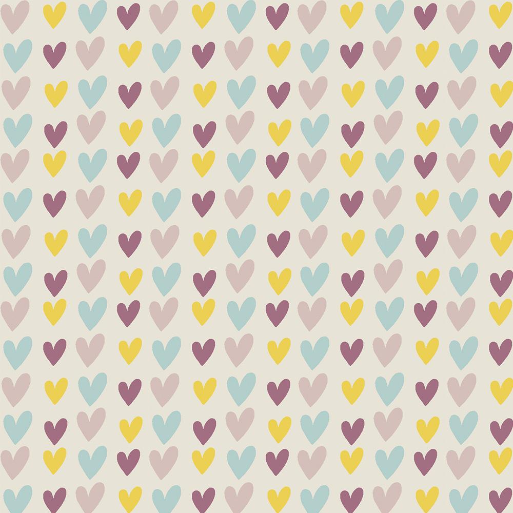 HEARTS :: ROSE | OVER THE RAINBOW | FABRICART