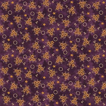 Abby's Treasures   Star Clusters   Purple   Blank Quilting