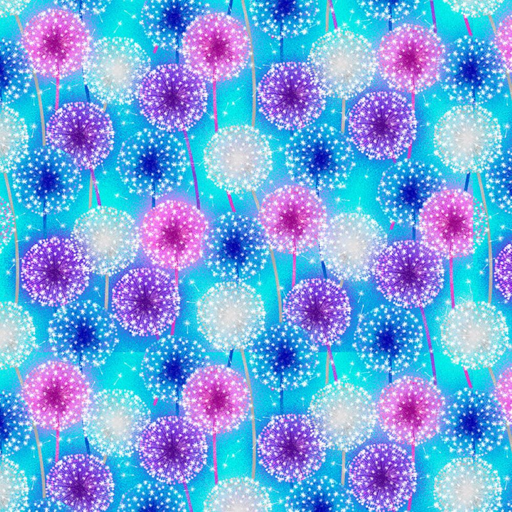 Let Your Light Shine   Starburst - Light Blue   Blank Quilting