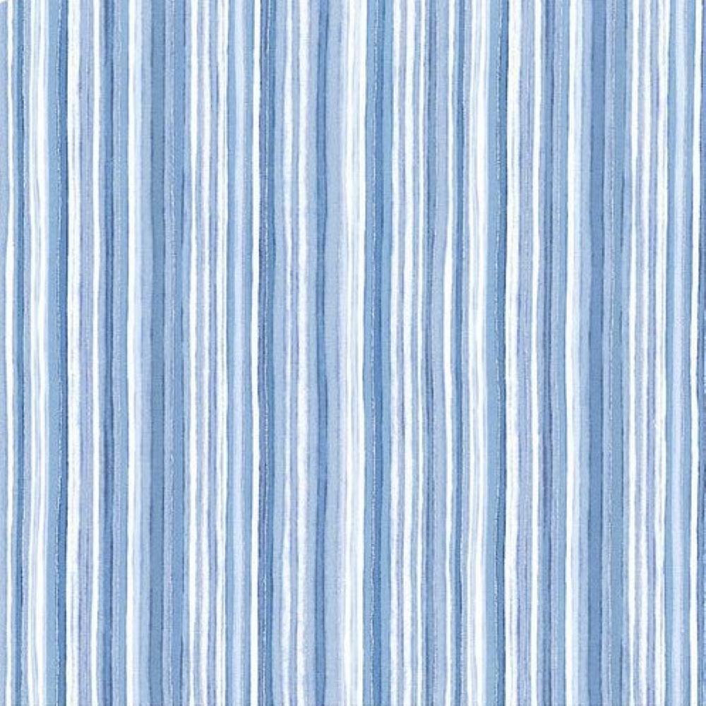 Silver Jubilee | Stripe - Metallic Blue | Maywood Studio