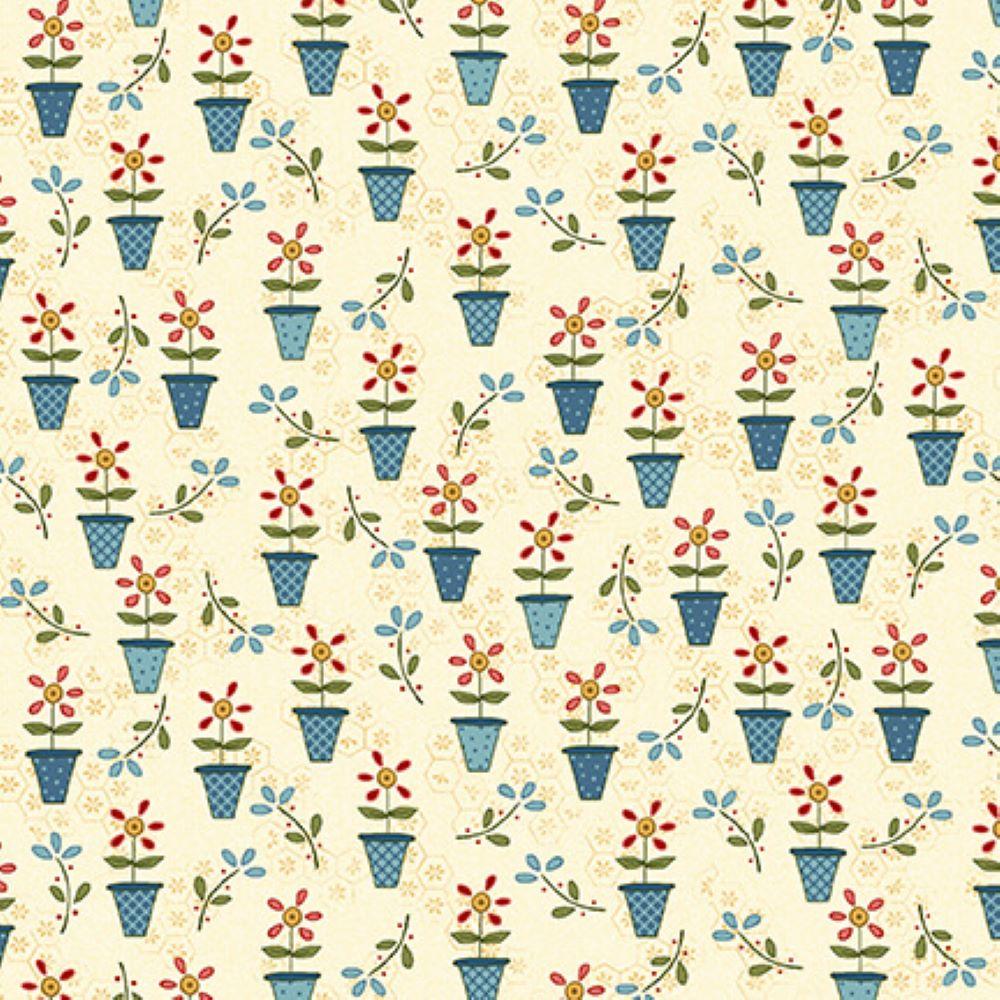 Backyard Happenings   Flower Pots - Cream   Henry Glass