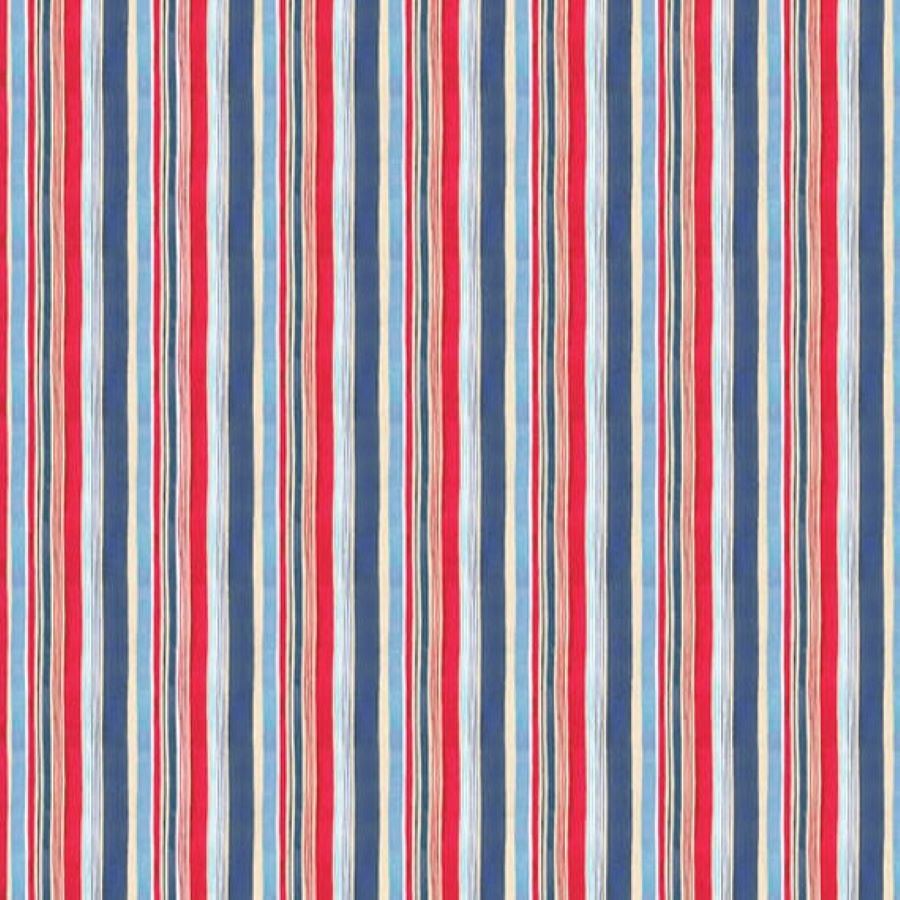 Harbor Days   Stripe   Red   Blank Quilting