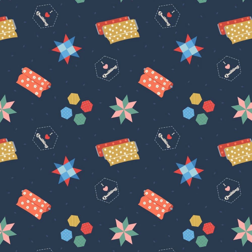 QUILTING | DARK BLUE :: SMALL THINGS ... CRAFTS | LEWIS and IRENE