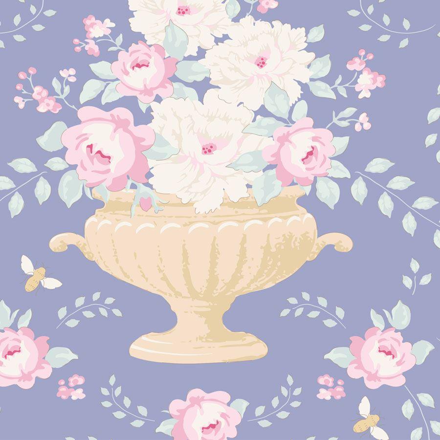 TILDA :: HAPPY CAMPERS   FLOWERBEES   BLUE