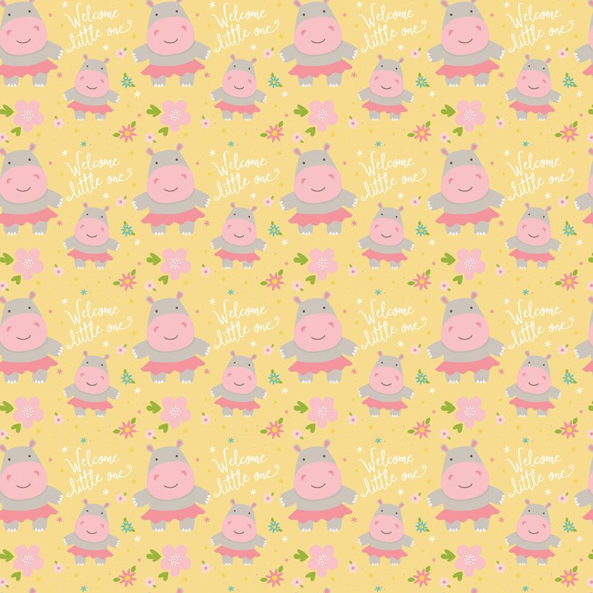 SWEET BABY GIRL :: HIPPOS | YELLOW
