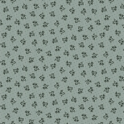Abby's Treasures | Mini Floral | Slate | Blank Quilting